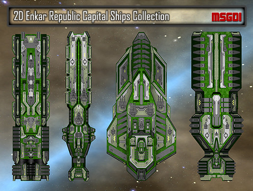 2D Enkar Republic Capital Ships Collection