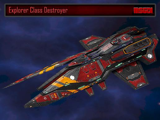 Scifi Destroyer Explorer