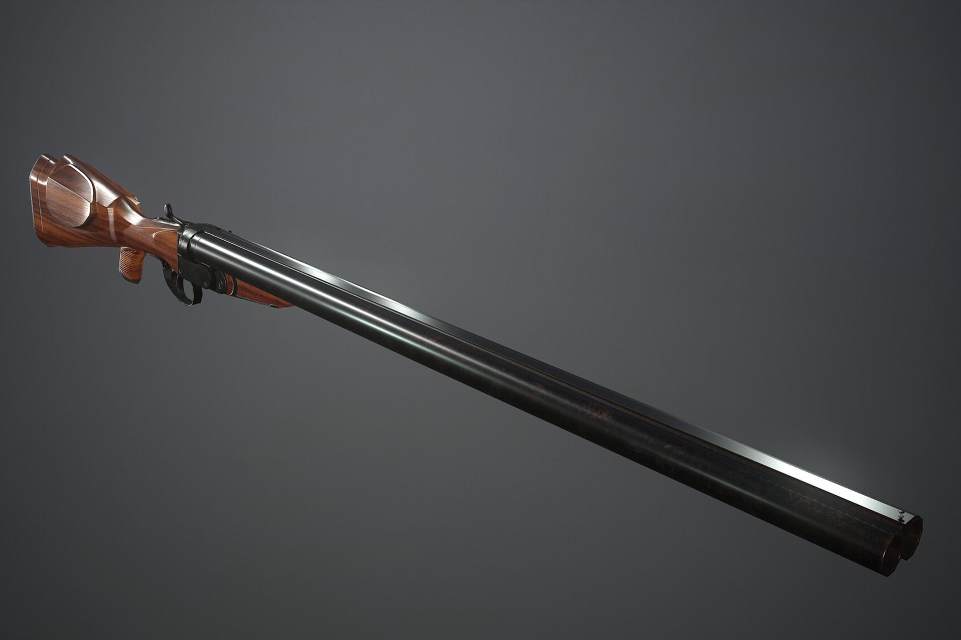 Double-barrel gun