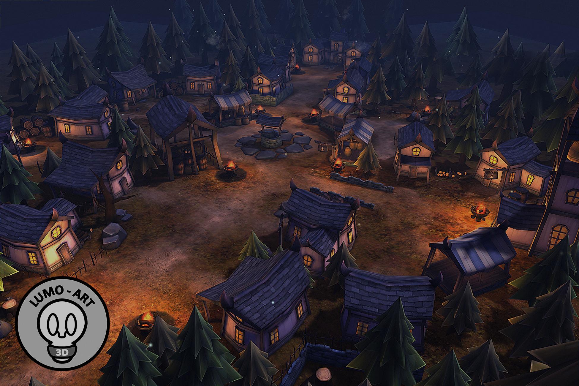 Medieval Cartoon Village Pack - VR/Mobile