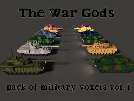The War Gods: pack of military voxels vol.1