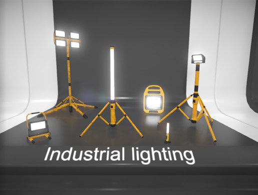 Industrial Lighting [HQ, PBR, LODs, Low-poly]