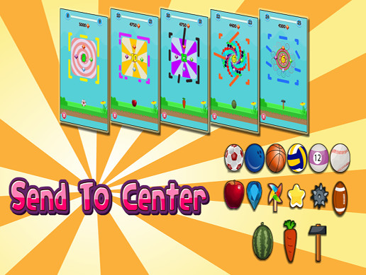 Send To Center - Hyper Casual Game