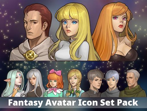 Fantasy Avatar Icon Set Pack