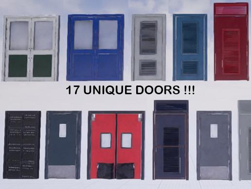 Industrial Door Pack #2 ( PBR + animated )