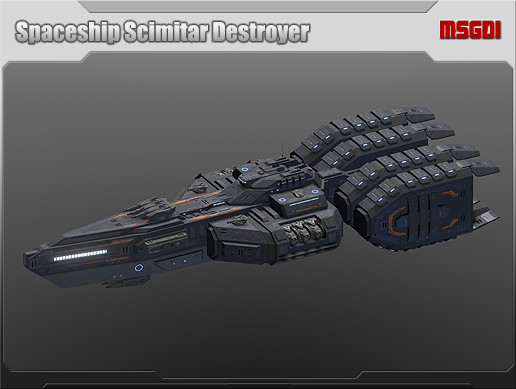 Spaceship Scimitar Destroyer