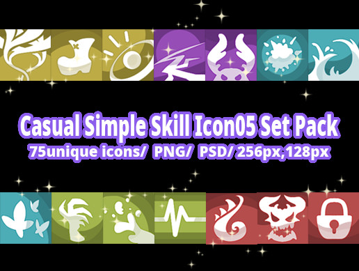 Casual Simple Skill Icon05 Set Pack