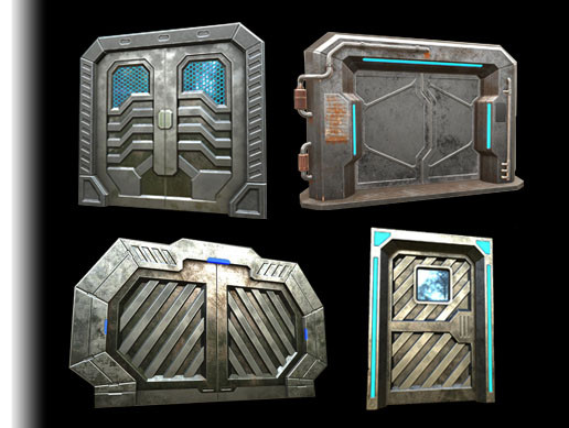 Animated Sci-Fi Doors