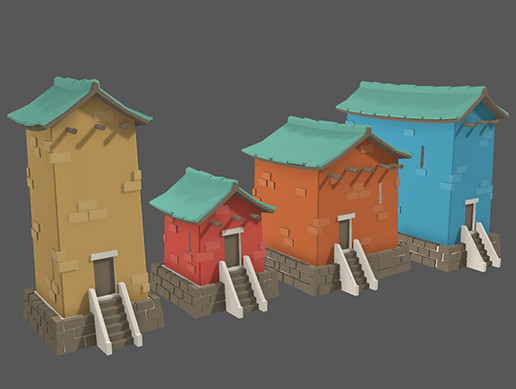 Low Poly Fantasy Houses
