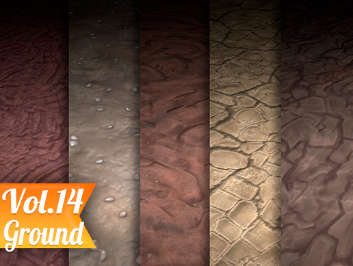 Texture Set Vol.14 Hand Painted Ground