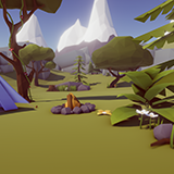 Low Poly Nature Gradient Pack
