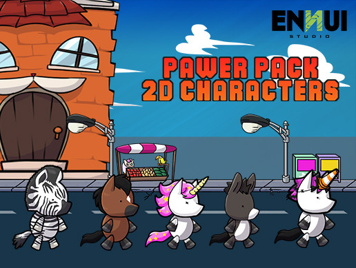Pawer Pack 2d characters – Horses