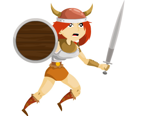 2D Female Viking