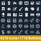 Clean Flat Icons