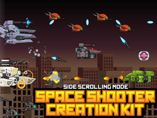 Space Shooter Sprite Kit 5 - Side Scrolling