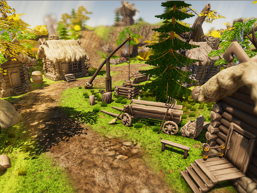 Stylized Village Construction Kit