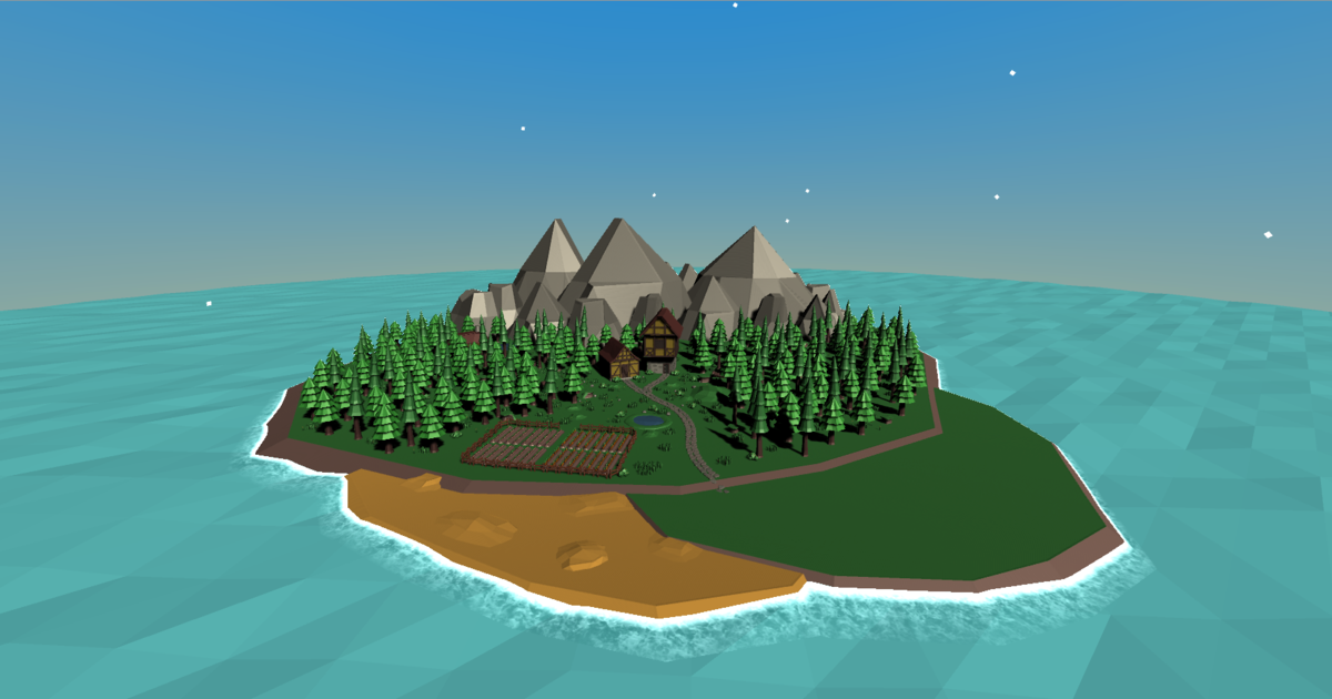 Lowpoly Nature & Village Pack
