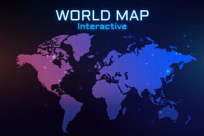 2D Flat World Map