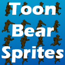 Toon Bear Sprites with Animations