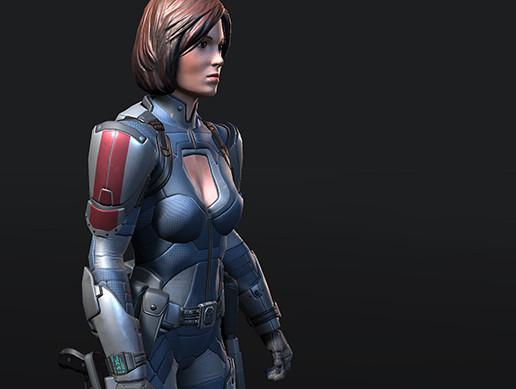 Armored Sci-Fi Girl