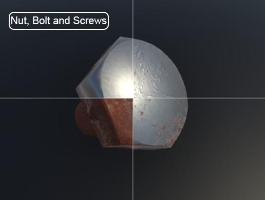Nut bolt and screws