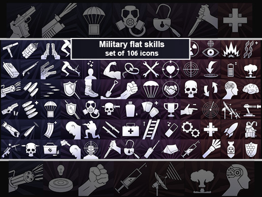 Survival Flat Icons
