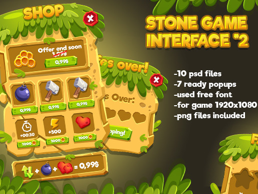 Stone Cartoon GUI