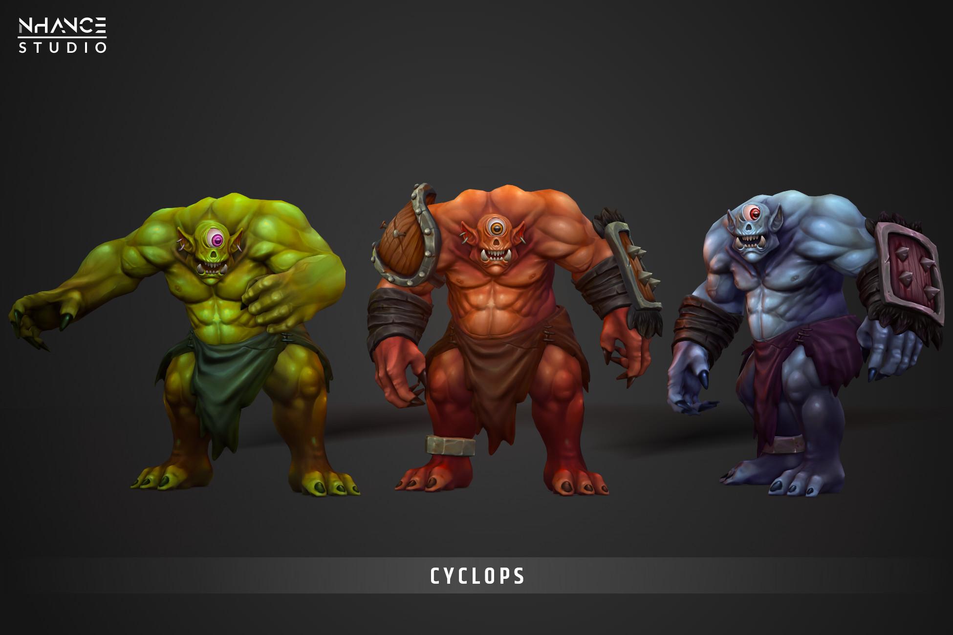 Modular Fantasy Stylized Cyclops Hero