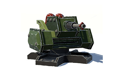 3D Defence Cannon Turret