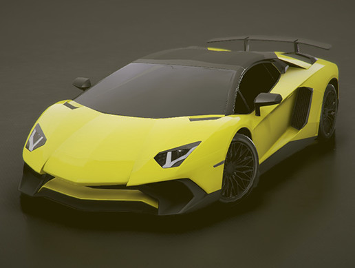 Low-poly Sports car #4