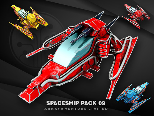 3D Spaceship Pack Vol 09