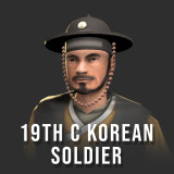 Korean Soldier- 19th Century