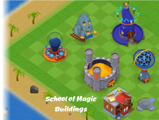 Magic buildings for RPG social games