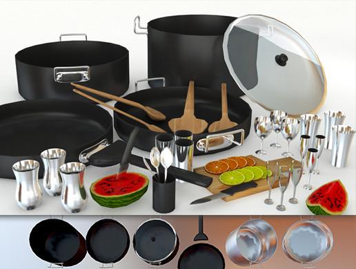 Kitchen Utensils HD - Asset Store