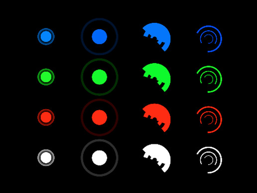 2D Targets Sprites