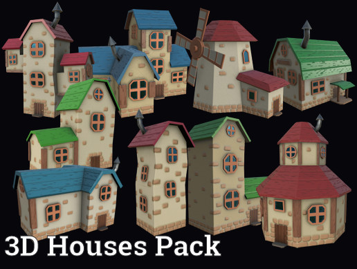 Stylized houses pack