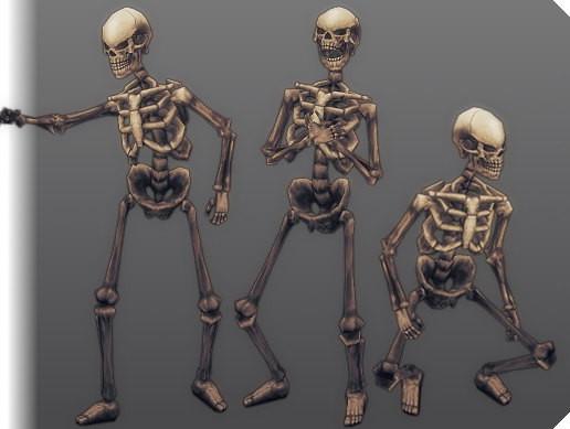 Stylized Animated 3D Skeleton - Asset Store