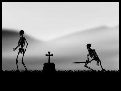 2D Black & White Skeleton