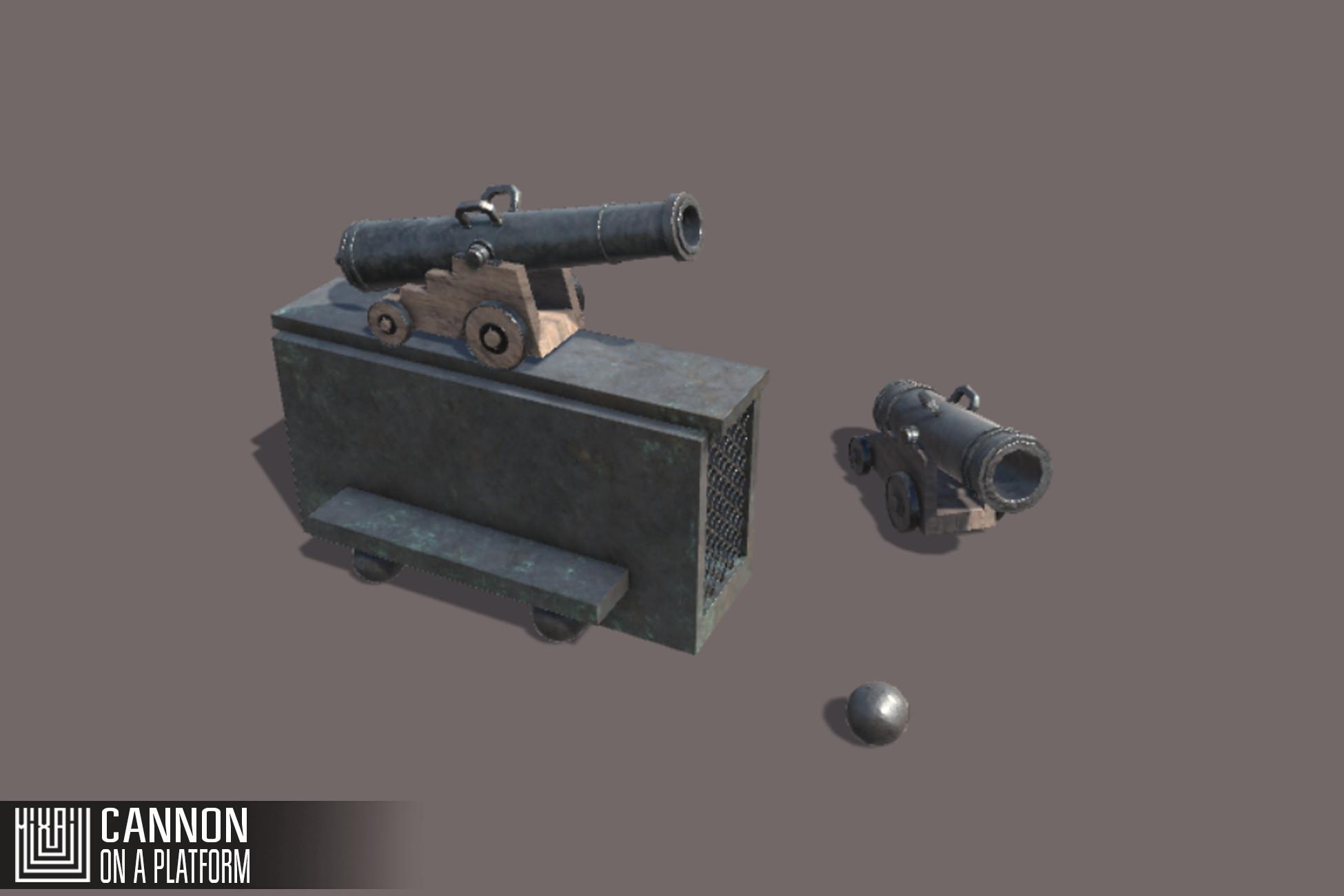 Cannon on a Platform