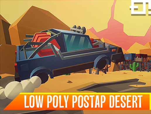 Low Poly Postap Desert
