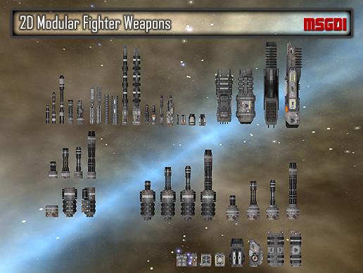 2D Modular Fighter Weapons