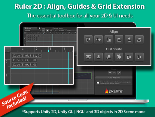 Ruler 2D : Align, Guides & Grid Extension - Asset Store