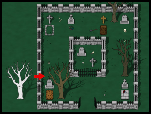 2D Top Down Cemetery World Tileset