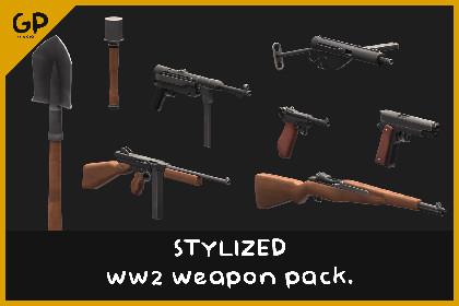 Stylized WW2 Weapon Pack