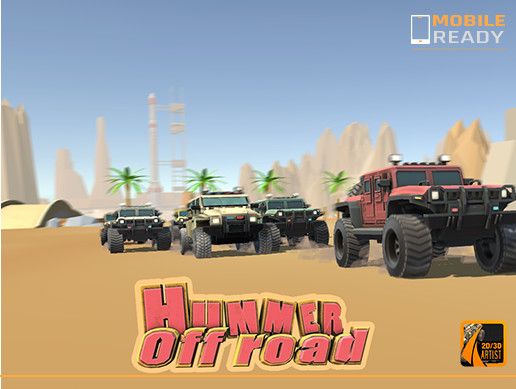 Hummer Off Road Low Poly Stylized Pack