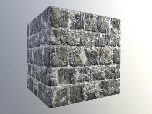 Frozen Stone Wall PBR