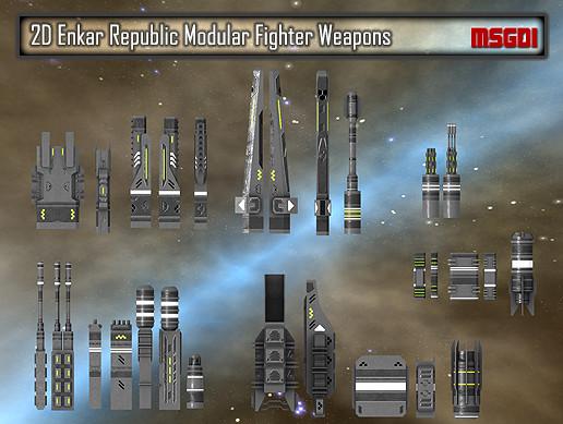 2D Enkar Republic Modular Fighter Weapons