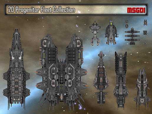 2D Progenitor Fleet Collection