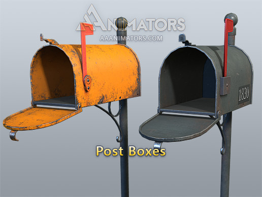 Low Poly Mail Boxes Pack
