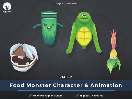Food Monsters Character and Animation Pack 2